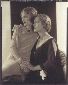 Edward Steichen- Dolores et Helen Costello, Hollywood, 1928