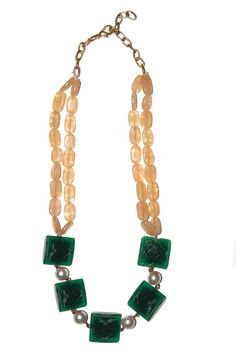 Indian Bollywood New Pearl Carved Green Beads Designer Necklace Jewelry Women #vidhijewelss #StrandString