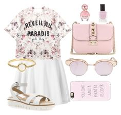"""""""Outfit for a walk in the Park"""" by liza-ionova ❤ liked on Polyvore featuring Momewear, Valentino, Geox, Irene Neuwirth, Deborah Lippmann, Marc Jacobs, Le Specs and Casetify"""