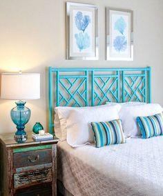 Blue Beach Bedroom Decor