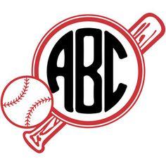 Softball round monogram