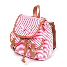 Kids Mini Striped Backpack with Bow   Claire's