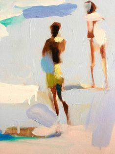 Original Beach Painting by Elizabeth Lennie Figure Painting, Painting & Drawing, Coastal Art, Arte Pop, Beach Art, Art Design, Art Plastique, Figurative Art, Les Oeuvres