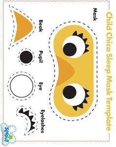 1 Child Chica Sleep Mask Template.jpg (2460×3143)- fun with felt project inspiration idea