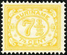 "Suriname 1931 Scott 89 7½c yellow ""Numeral of Value"""