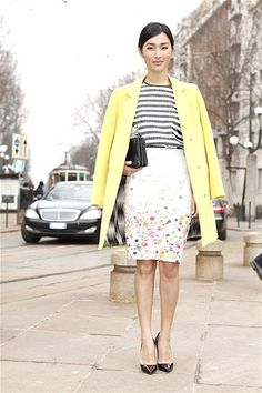 tendencias primavera 2013 falda lapiz pencil skirt street style street wear moda en la calle - 1 (© Cool Hunt)