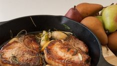 Pork Chops with Pear and Ginger