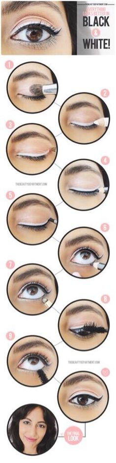 DIY - Black & White Eyeliner