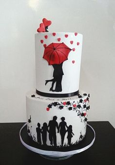 67 Ideas Birthday Cake For Husband Love Valentines Day For 2019 Gorgeous Cakes, Pretty Cakes, Dad Birthday Cakes, Husband Birthday Cake, Husband Cake, Birthday Ideas, Silhouette Cake, Silhouette Wedding Cake, Dad Cake