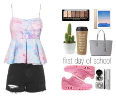 """""""First day of school"""" by xestherkoopmans on Polyvore featuring mode, Topshop, NIKE, Kate Spade, Michael Kors en Bobbi Brown Cosmetics"""