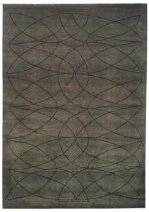 Akana LQ Rug    Product Family: Akana    Designer: Kristiina Lassus    Colour: Brown Green - Black    Standard quality: KL107B - 100 knots, wool + bamboo Silk    Handknotted in Nepal, low pile        Available in foll...