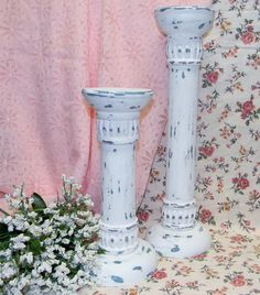 Shabby Chic Cottage Style White Candle by hensnesttreasures, $26.00
