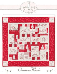 A fun pattern featuring hand embroidery and applique. Showcasing Bunny Hill Designs new fabric line Winter Wonderland.