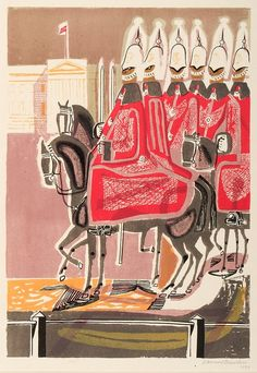 Life Guards, 1952 – 53, colour autolithograph