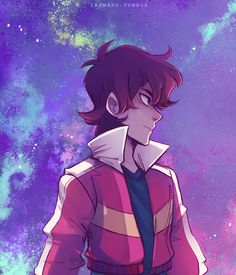 did a sky background Keith to match the Pidge one :^)