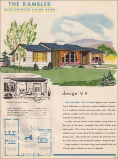 Western Rambler  1945 Style Trends by National Plan Service