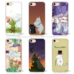 1.67$  Watch here - cute Cartoon Moomin I am happy Hard Transparent Phone Case Cover Coque for Apple iPhone 4 4s 5 5s SE 5C 6 6s 7 Plus   #magazineonlinewebsite