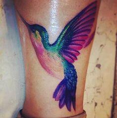 Hummingbird. Tattoo. No outline.