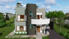 House Layout Plans, House Layouts, House Plans, Small House Design, Modern House Design, Style At Home, 4 Bedroom House Designs, Front Elevation Designs, Building Concept
