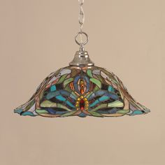 Shop Toltec Lighting  10 Chain Hung Large Pendant with Kaleidoscope Tiffany Glass at ATG Stores. Browse our pendant lights, all with free shipping and best price guaranteed.