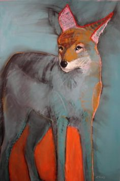 ♞ Artful Animals ♞ bird, dog, cat, fish, bunny and animal paintings - Donya Coyote by Rebecca Haines