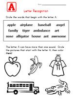 Alphabet Worksheets for Kids - Letter Recognition | Kids Learning Station
