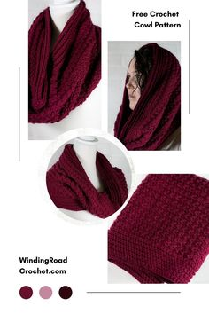 Crochet Cowl Free Pattern, Basic Crochet Stitches, Crochet Basics, Free Crochet, Crochet Patterns, Crochet Scarves, Crochet Shawl, Crochet Yarn, Easy Crochet