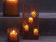 Rustic Ring Tealight Candle Holder $20