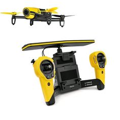 Shop Bebop Drone and Sky Controller. Renowned French wireless products manufacturer **Parrot** deliver this drone with a digitally stabilized, triple-axis HD camera for professional-quality aerial video and photography. Drone Parrot, Parrot Ar, Dslr Camera Reviews, Pilot, Phantom Drone, Dji Phantom, Remote Control Drone, Flying Drones, Drone Quadcopter