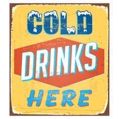 Fab.com | Cold Drinks sign for fridge -- a little pricey for something that can't be returned but it looks like fun...