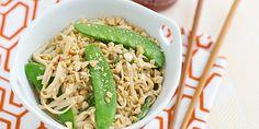Peanut Udon Noodles with Snow Peas Recipe > Yum
