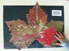 TresQuatreiCinc: DECORAR LA TARDOR Ús de diferents suports per experimentar amb la tèmpera. P3 Leaf Art, Cool Designs, Arts And Crafts, Murals, Nature, Kids, Craft Ideas, Leaves, Painting