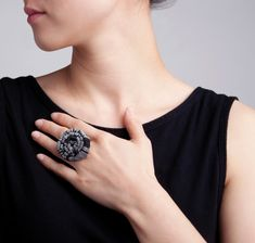 Yong Joo Kim / Ring / Reconfiguring the Ordinary: Rolled and Inserted / Velcro and Sterling Silver