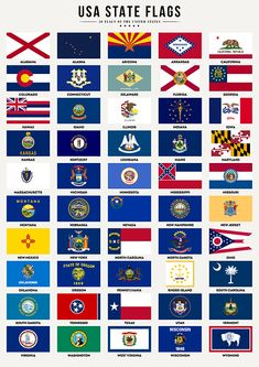 usa state flags, flags of the united states, us state flags, america, … Us States Flags, Countries And Flags, U.s. States, United States, American State Flags, American Flag, Flag Icon, Flag Art, Flags Of The World
