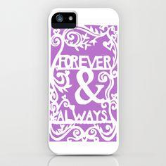 Forever & Always - Lavender iPhone & iPod Case by Rachel Winkelman - $35.00