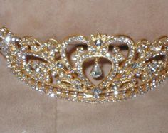 Corona de la Tiara de diamantes de imitación de por yesteryearglam