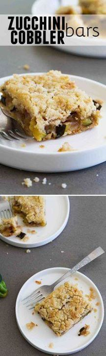 Do you have an overl Do you have an overloaded zucchini plant?...  Do you have an overl Do you have an overloaded zucchini plant? These Zucchini Cobbler Bars are an unconventional zucchini dessert but you will fall head over heels in love with them! Recipe : http://ift.tt/1hGiZgA And @ItsNutella  http://ift.tt/2v8iUYW