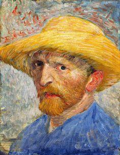 van Gogh: self portrait:  pre ear cutting