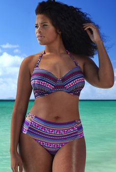 Swim Sexy The Mogul Power Print Underwire Bikini