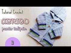 Suscríbete a este canal aquí: http:& Este suéter o abrigo a crochet está diseñado para bebés. http:& Espero te guste el video. Knit Cardigan Pattern, Baby Cardigan, Crochet Cardigan, Knit Crochet, Crochet Hats, Crochet Baby Clothes, Crochet For Boys, Crochet Videos, Crochet Dolls