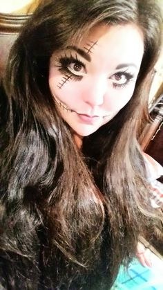 Gothic Doll Halloween Makeup