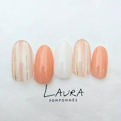 Like the streaks Nail Polish Designs, Cute Nail Designs, Acrylic Nail Designs, Acrylic Nails, Love Nails, Pretty Nails, Uñas Fashion, Nail Pictures, Japanese Nail Art