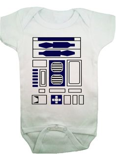 Funny Cool R2D2 Star Wars Baby Onesie Bodysuit, I'd use this boy or girl, lol, I love Star Wars.