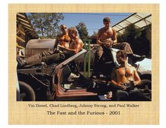 The Fast and the Furious Vin Diesel, Paul Walker, Michelle Rodriguez 8X10 Photo