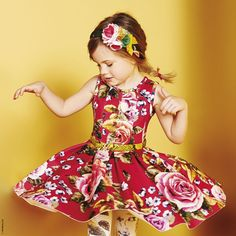 Printed neoprene dress Monnalisa for girls   Melijoe.com