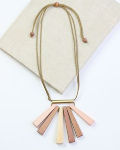 Contemporary Statement Necklace in Blush by Sylca   Sylca Designs