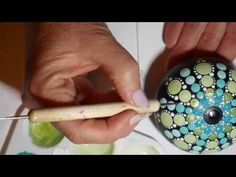 This tutorial will show you how to make your own art stone from gypsum plaster cement using a silicone mold from The Happy Dotting Company. Then, once the st. Dot Art Painting, Mandala Painting, Stone Painting, Mandala Art, Mandala Painted Rocks, Mandala Rocks, Stone Crafts, Rock Crafts, Diy Crafts