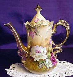Hand painted American pattern Coffee and Chocolate pot. I have one of these, it was my grandmother's.