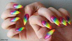 Regenboog nagels