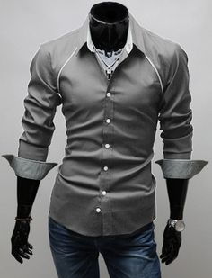 Chest Accented Dress Shirt